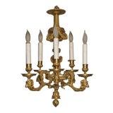 Image of Louis XVI Style Doré Bronze Chandelier For Sale