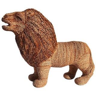 Mario Torres Lopez Style Wicker Raffia Lion Animal Preview