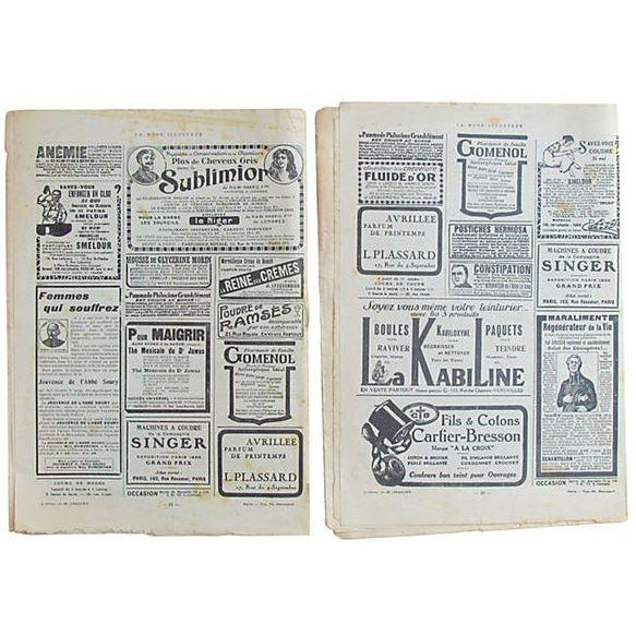 French Fashion Periodicals C.1920, Pair For Sale - Image 4 of 5