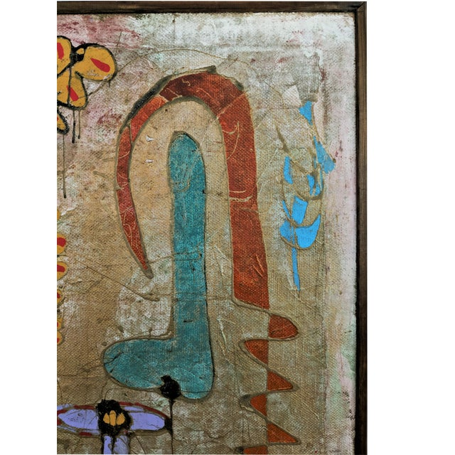 2000 - 2009 Contemporary Andrea Bonora Painting in the Manner of Basquiat For Sale - Image 5 of 13