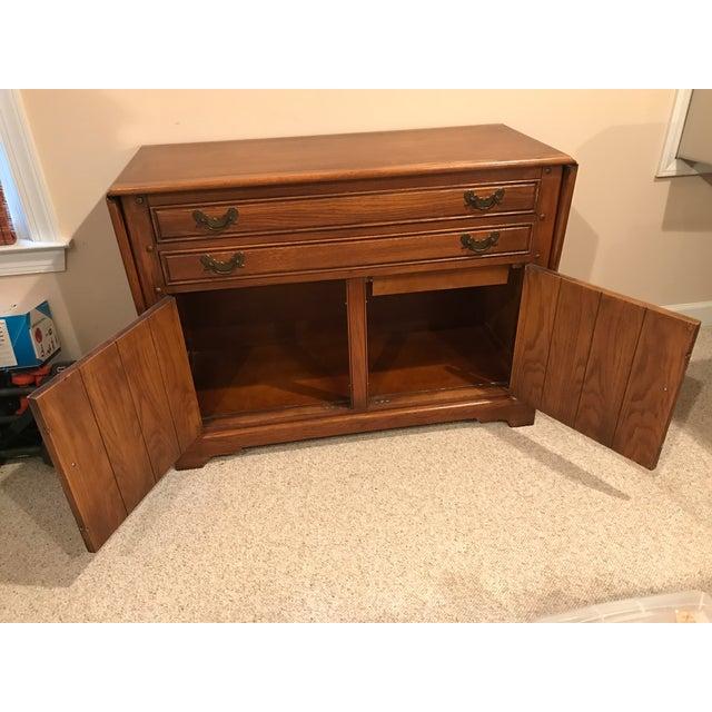 Arts & Crafts Stickley Solid Oak Server Buffet For Sale - Image 3 of 9
