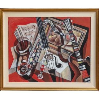 Erik Freyman, Trio in Red, Acrylic For Sale