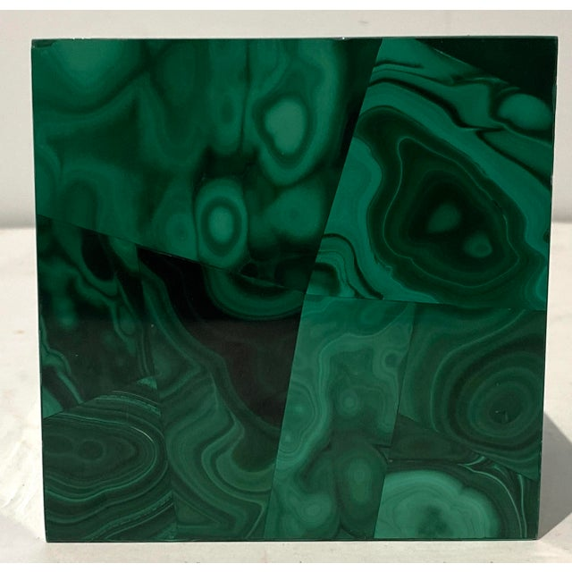 Vintage 4-Inch Malachite Cube For Sale In West Palm - Image 6 of 10