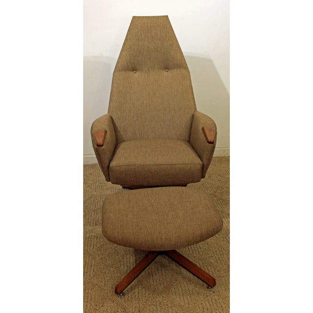Danish Modern Mid-Century Modern Adrian Pearsall Lounge Chair & Ottoman 2174c For Sale - Image 3 of 10