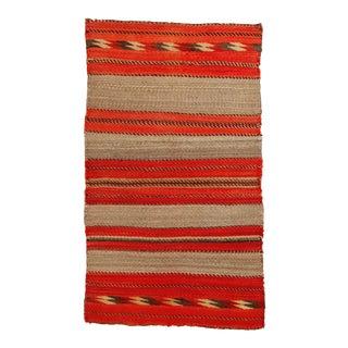 Vintage Navajo Double Saddle Blanket- 2′5″ × 4′5″ For Sale