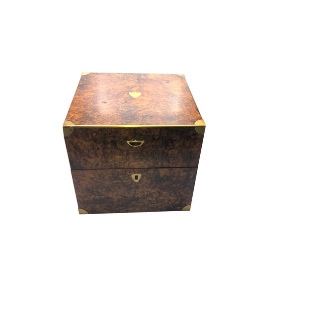 Antique English Campaign Style Box For Sale - Image 9 of 9