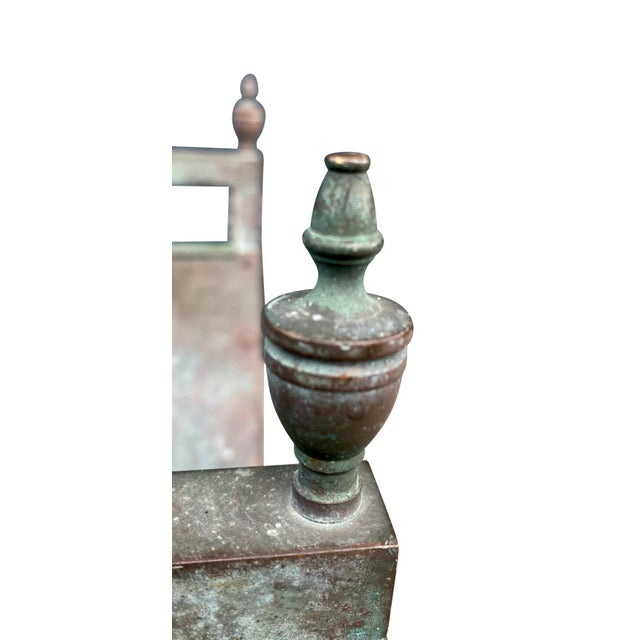 1900 - 1909 American Bronze and Brass Wood Holder For Sale - Image 5 of 6