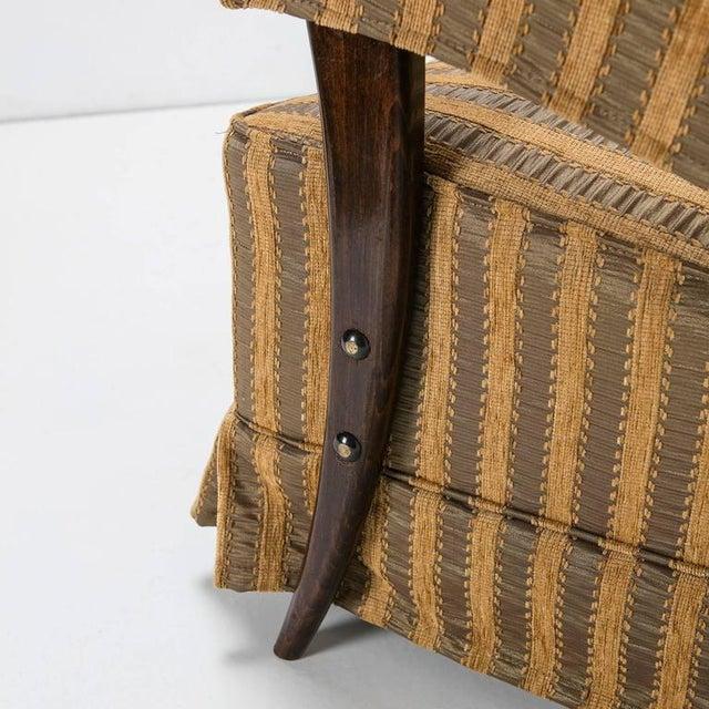 Textile Rare Pair of Italian 1950s Bergères For Sale - Image 7 of 10