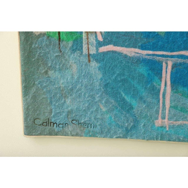 Acrylic Calman Shemi Soft Painting - Signed and numbered For Sale - Image 7 of 11