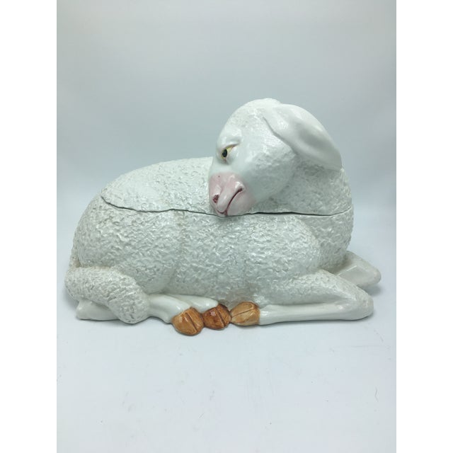 Vintage Ceramic Lamb Tureen For Sale - Image 11 of 11