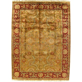 Traditional Pasargad Indo Agra Wool Rug - 9′ × 12′ For Sale