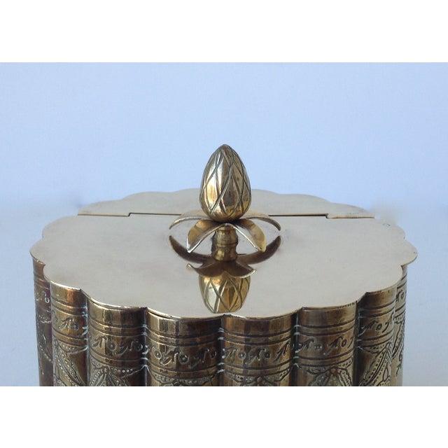 Brass English Moorish-Style Tea Container - Image 6 of 11