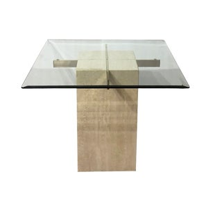 Italian Artedi Travertine Occasional Table For Sale