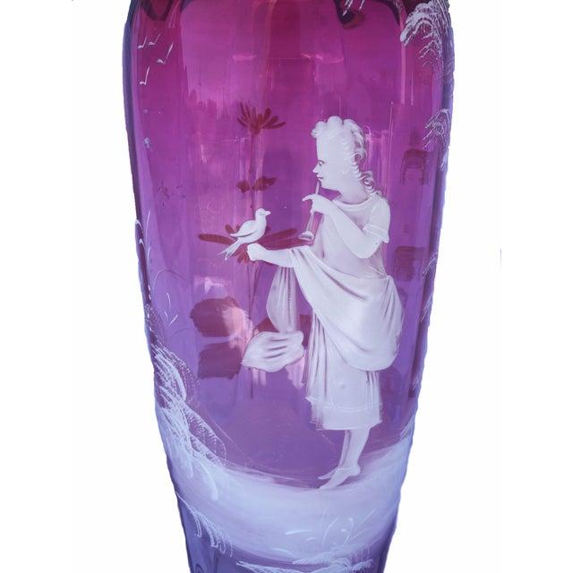 Ruby Glass Vase C. 1880 - Image 3 of 5