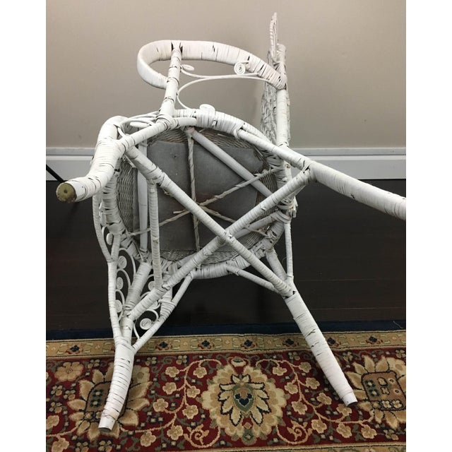 Early 20th Century Antique White Wicker Chair For Sale - Image 11 of 12