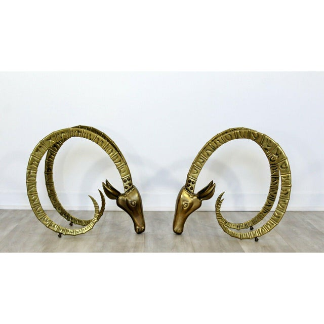 For your consideration is a stunning pair of Ibex heads, made of bronze, in the style of Alain Chervet, circa the 1970s....