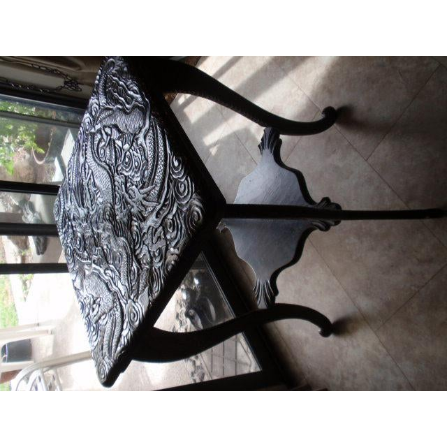 Antique Chinese Carved Table With Dragon Motif - Image 3 of 10