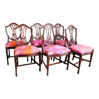 1950s Kaffe Print Dining Chairs - Set of 6 For Sale