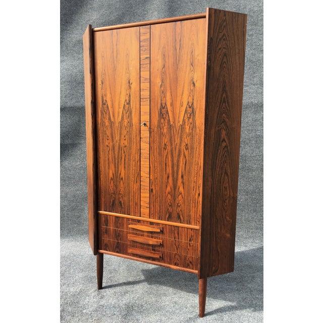 Danish Modern Rosewood Corner Cabinet - Image 2 of 6