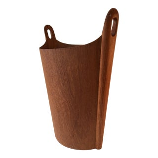 Einar Barnes for P.S. Heggen Teak Trash Can For Sale