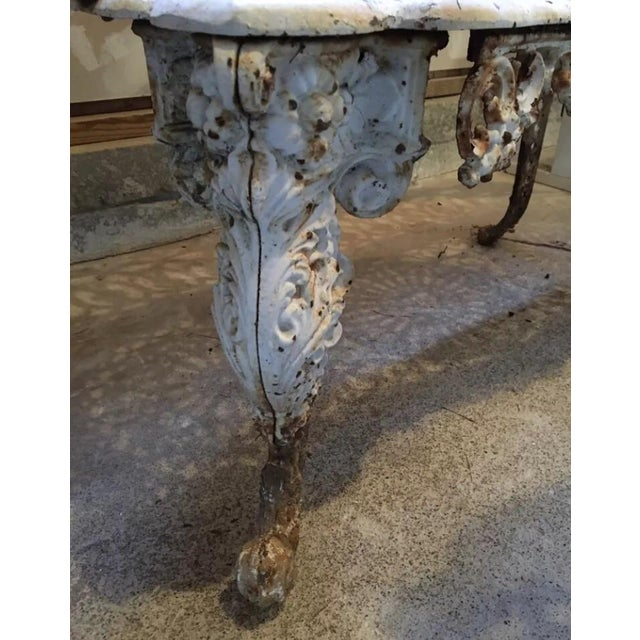 American Victorian Cast Iron Garden Benches - A Pair - Image 10 of 11