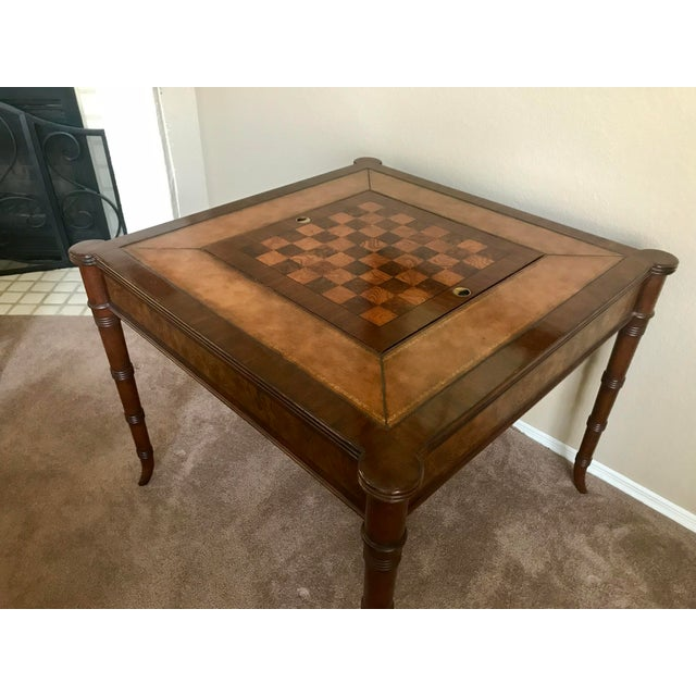 Traditional Ethan Allen Game Table For Sale - Image 3 of 9