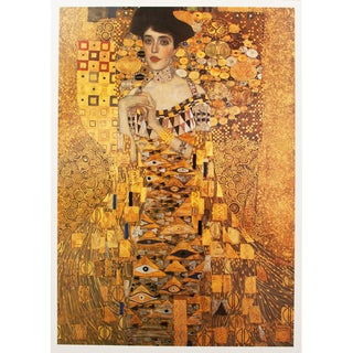 "1996 Gustav Klimt ""Portrait of Adele Bloch-Bauer"" Second German Edition Small Poster For Sale"