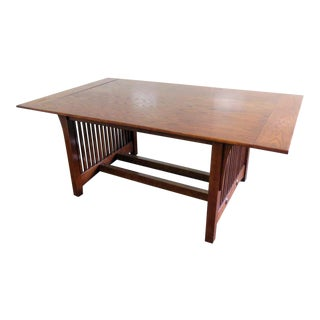 Mission Style Dining Room Table For Sale