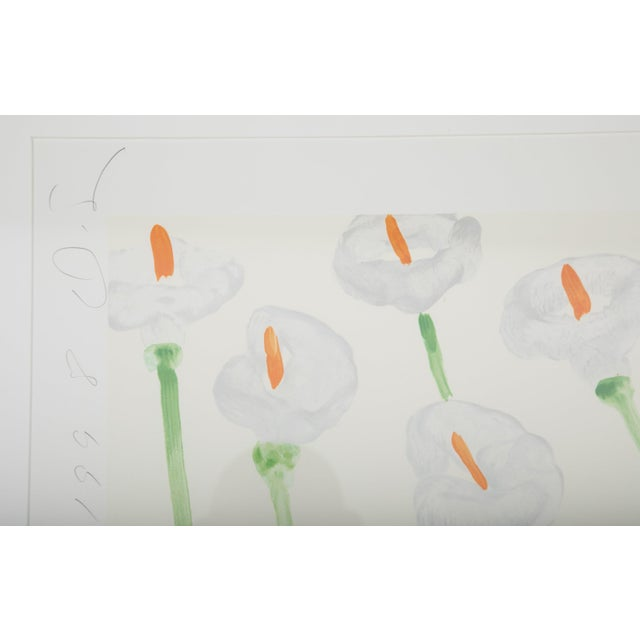 """Donald Sultan """"Lilies"""" Serigraph on Paper For Sale - Image 11 of 11"""