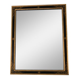 Regency Style Black and Gold Mirror For Sale