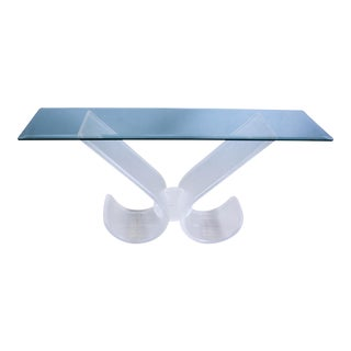 Mid-Century Modern Lucite Console Table For Sale