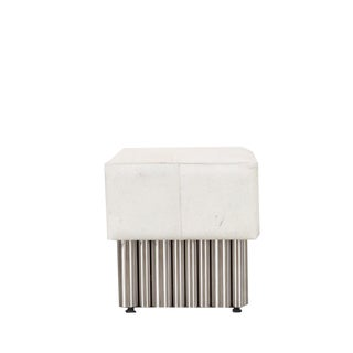 Early 21st Century Cream Hair on Hide Bench - Small
