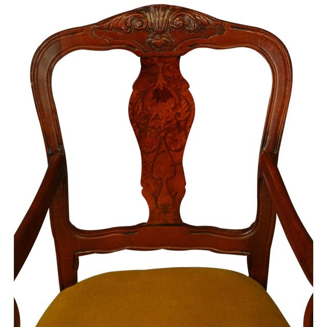 New Italian Rococo Inlay Armchair - Image 3 of 8