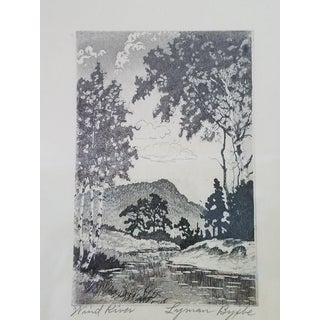 Colorado Landscape Black & White Etchings by Lyman Byxbe - Collection of 3 For Sale