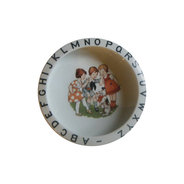Vintage 1940s Children's Alphabet Bowl - Image 1 of 6