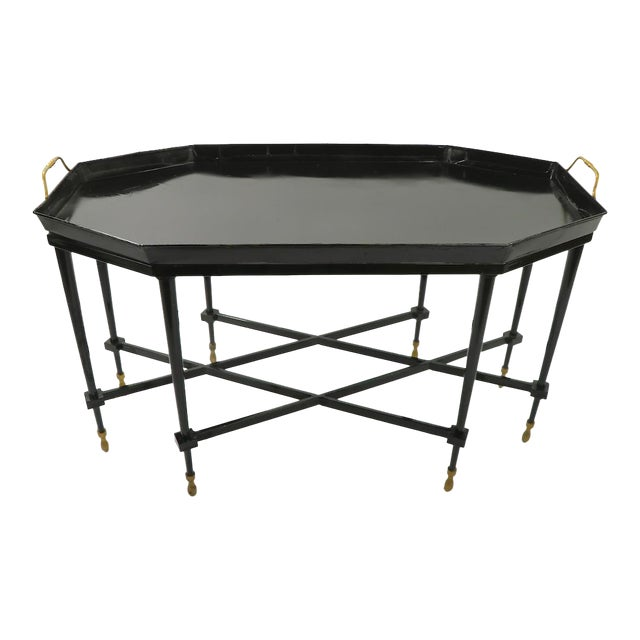 1950s Italian Tray Top Cocktail Table For Sale