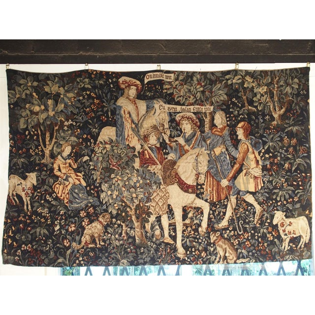 Medieval Style Tapestry from France, 20th Century For Sale - Image 12 of 12