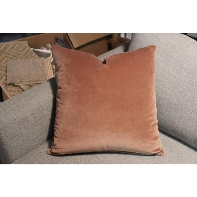 Hand Tooled Brown Leather Pillow - Image 4 of 5