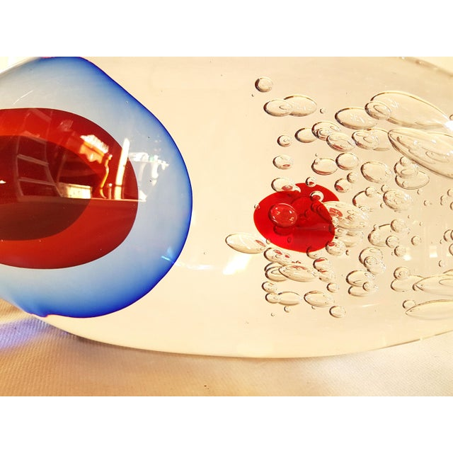 1970s 1970s Mid Century Modern Large Size Fish Sculpture in Sommerso Murano Glass by Flavio Poli For Sale - Image 5 of 10