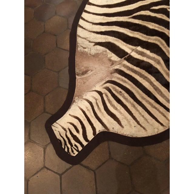 1960s Vintage Burchell Zebra Rug For Sale - Image 9 of 12