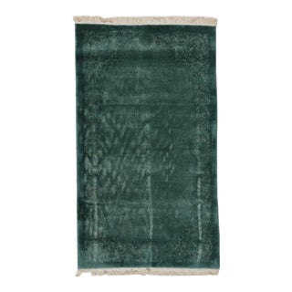 Green Chinese Art Deco Rug For Sale