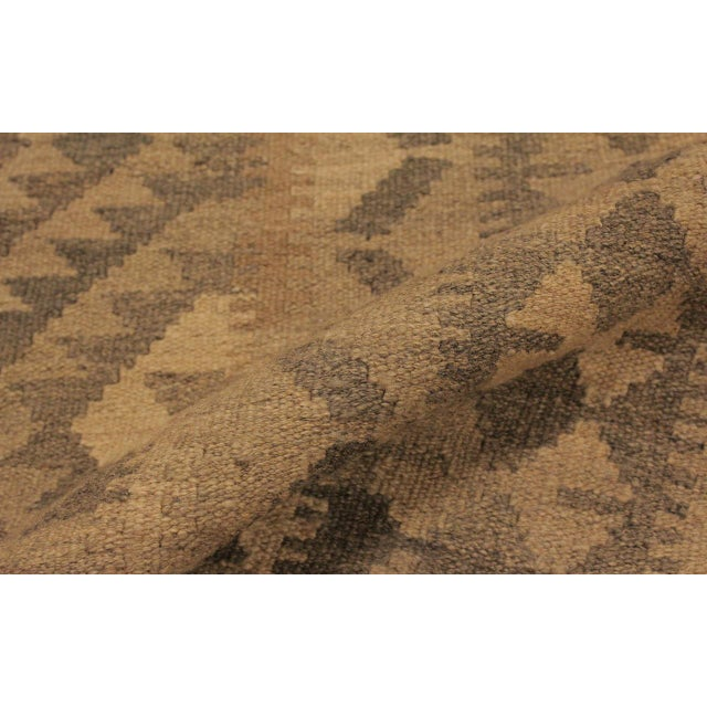 2010s Uriela Gray/Brown Hand-Woven Kilim Wool Rug -4'3 X 5'10 For Sale - Image 5 of 8