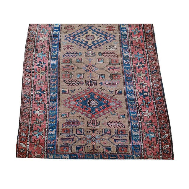"Antique Persian Sarab Runner Early 1900's - Size 3'4"" X 11'3"" - Image 2 of 4"