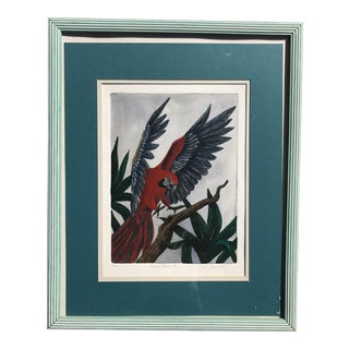 Regency Style Parrot Painting For Sale