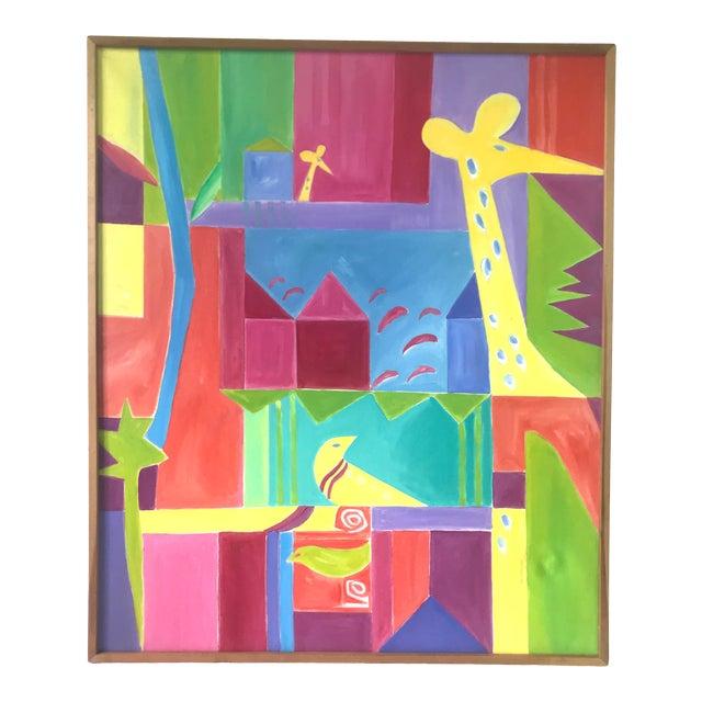 Original JoAnn Crisp Ellert Oil Painting on Canvas, 1990s For Sale