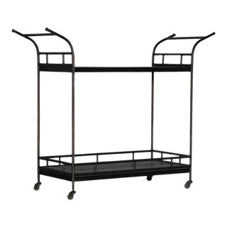 Kenneth Ludwig Chicago Cia Bella Metal Bar Cart For Sale