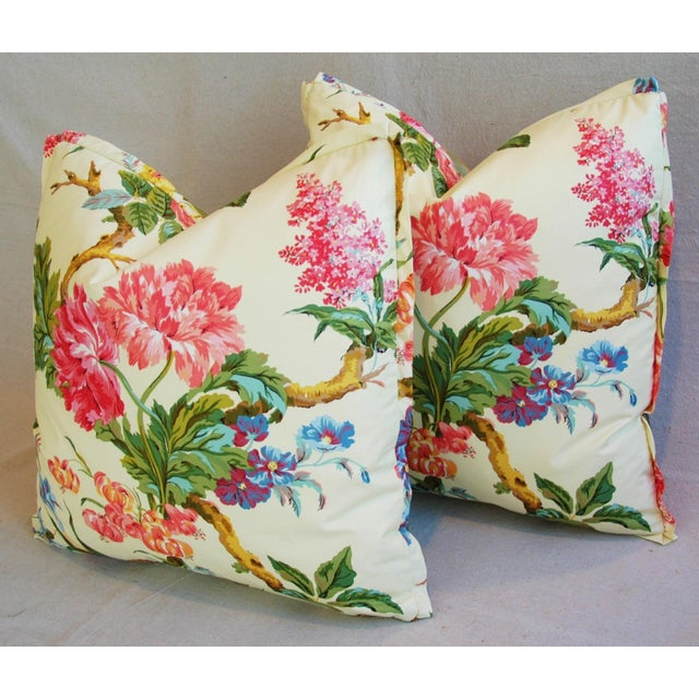 Brunschwig & Fils Coligny Spring Floral Pillows - a Pair - Image 8 of 10