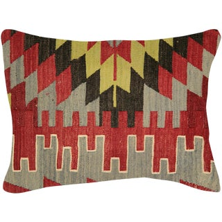 "Nalbandian - 1960s Turkish Kilim Pillow - 18"" X 24"" For Sale"