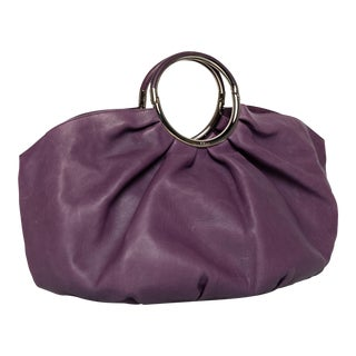 Vintage Christian Dior Purple Leather Babe Bag For Sale