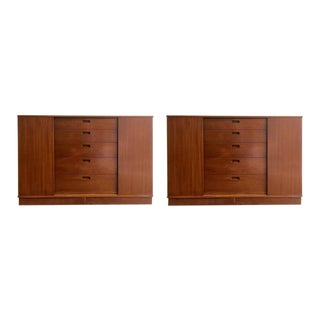 Pair of Edward Wormley for Dunbar Cabinets For Sale